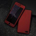 360-case-i-staklen-protektor-za-iphone-cherven